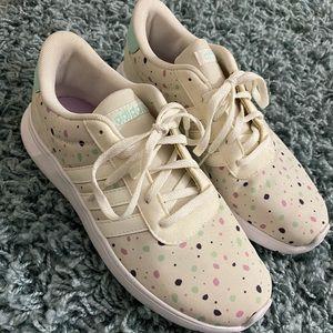 Brand new never worn beige and polka dot adidas!